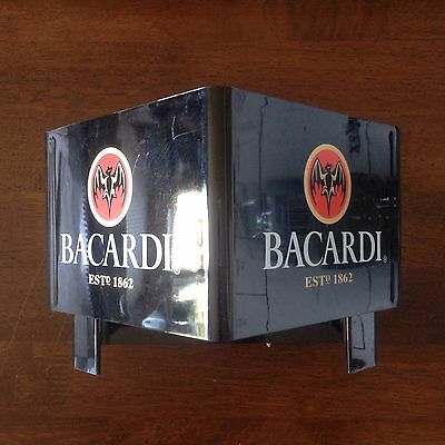 Bacardi Rum Plastic Napkin Holder Caddy Great For The Man Cave Or Bar