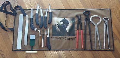 Farrier's Horse Care Grooming Tool Kit Set Hoof Stable Farm Knife Tack Nippers