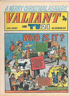 Valiant 25th Dec 1971 (very high grade copy) Star Trek, Janus Stark, Steel Claw