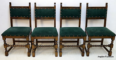 4 Old Charm Dining Chairs Light Oak Ickleton Green FREE Nationwide Delivery