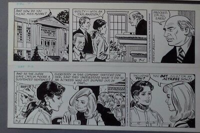 Heart of Juliet Jones Daily strip 07-01-94 to 07-02-94 Original art Frank Bolle