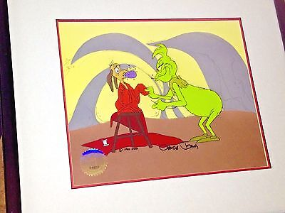 How The Grinch Stole Christmas Original Production Max Cel signed Chuck Jones