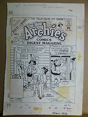 New Archies Comics Digest #2, July '88, Cover original art by Henry Scarpelli