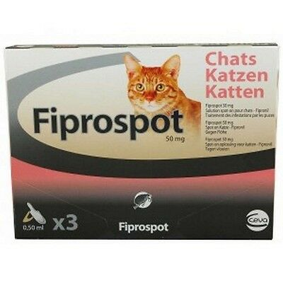 Fiprospot Antiparasitaire Chats Solution Spot-On 3 Pipettes 0.50Ml Fipronil