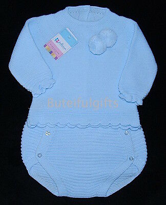 Spanish 2 Piece Knitted Pom Pom Jumper & Jam Pants Set NB-12 Mth *One Supplied*