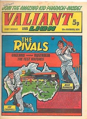 Valiant 30th Nov 1974 (high grade) Adam Eterno, Kid Pharoah, Robot Archie