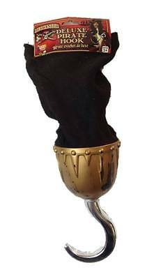 Buccaneer Gold Pirate Captain Hook Deluxe Halloween Costume Accessory Silver Toy