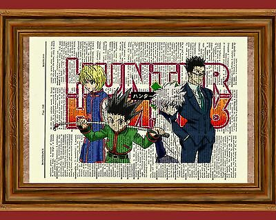 Hunter X Hunter Anime Dictionary Art Poster Picture Gon Killua Leorio Kurapika