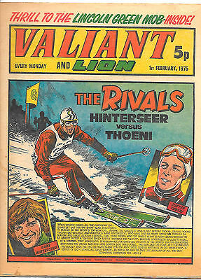 Valiant 1st Feb 1975 (high grade) Adam Eterno, Kid Pharoah, Spellbinder