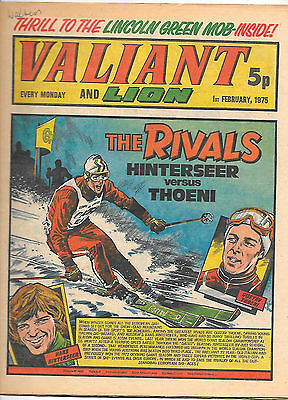 Valiant 1st Feb 1975 (very high grade) Adam Eterno, Kid Pharoah, Spellbinder