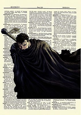 Berserk Guts Anime Dictionary Art Print Poster Picture