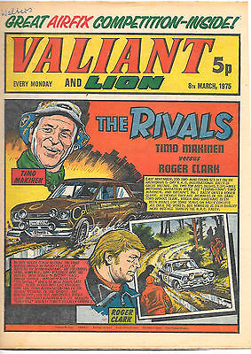 Valiant 8th Mar 1975 (very high grade) Adam Eterno, Kid Pharoah, Spellbinder