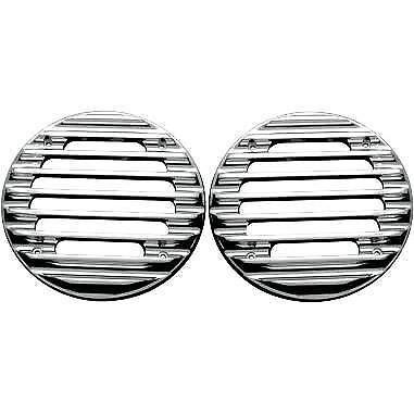 Rear Finned Speaker Grilles Covingtons Chrome C0022-C
