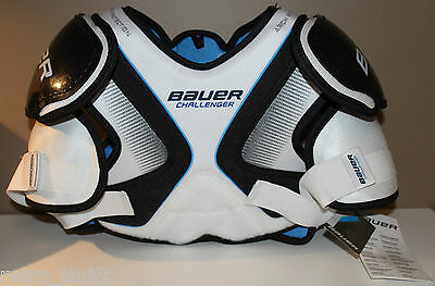 """Bauer Challenger SR Size Small Shoulder Pads Ice Hockey Arch Protection 5'5-5'9"""""""