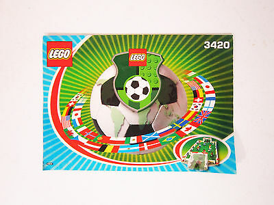Lego 3420 Instructions - Great Conditions - Soccer