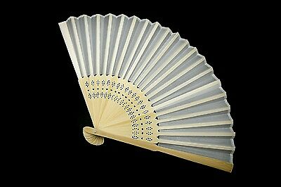 40 x Stunning White Silk Fans With Gift Bag Wedding Favours Beach Party Bridal