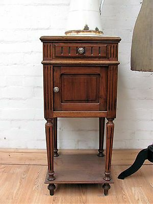 Gorgeous Antique French Marble Topped Pot Cupboard - C1920