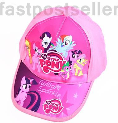 New Kids Girls My Little Pony Sunny Baseball Cap Hat Adjustable Velcro Accessory