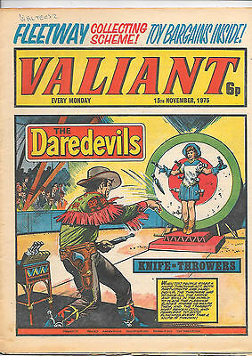 Valiant 15th Nov 1975 (very high grade) Adam Eterno, Kid Pharoah, Janus Stark