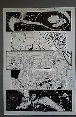 Rebels Vol. 2 #4 pg.15, July '09 Original Art by St. Aubin & Hanna