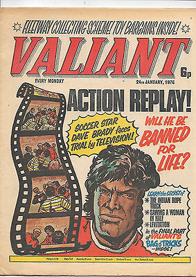 Valiant 24th Jan 1976 (high grade) now edited by John Wagner. One-Eyed Jack