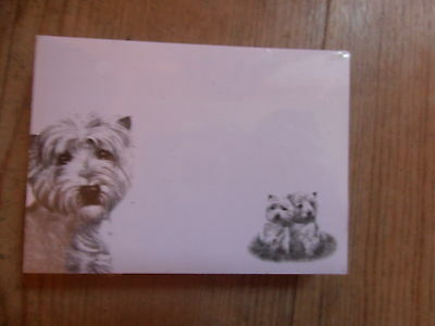 3 pack of Westie post it sticky notes memo West Highland White Terrier dog