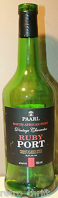 "Paarl Ruby Port 11.5"" Empty Wine Bottle 750ml South African Vintage Character"