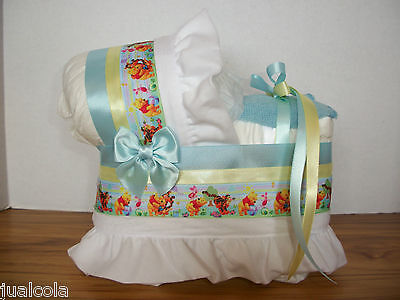 Winnie The Pooh Boy Diaper Bassinet Baby Shower Centerpiece Table Decoration