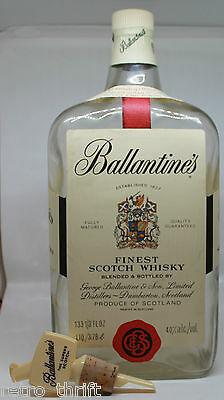 "Ballantine's Scotch Whisky Empty 3.78 Litre Liter 14.5"" Bottle and Pouring Spout"