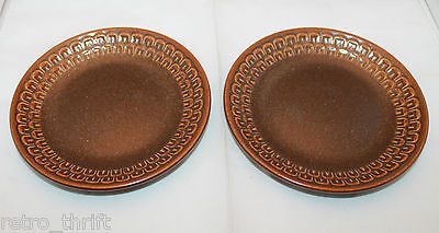 Wedgwood Set of 2  Pennine Brown Bread & Butter Side Plates Dish Made in England