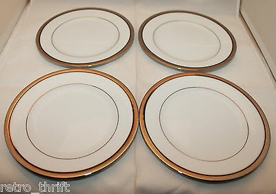 Set of 4 Noritake Legendary Renwick Platinum 4320 Bread and Butter Plates 6.25'