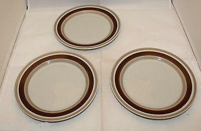 "Set of 3 Arabia Finland Pirtti Bread and Butter Side Plates 17cm 6.75"" AS-IS"