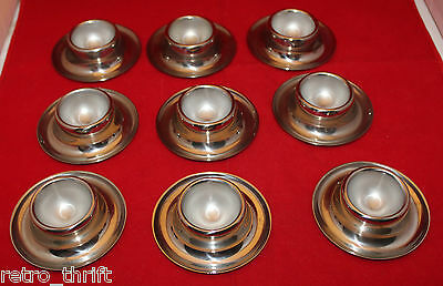 WMF Set of 9 Stackable Egg Cups Stand Holders 18/10 Stainless Steel Germany Made
