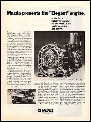 1972 Mazda Rotary Revolution Engine RX-2 Coupe vintage print ad