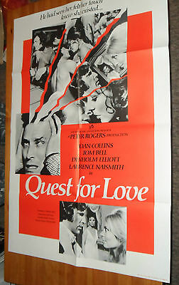 Original Vintage Movie Poster QUEST FOR LOVE / ENGLAND Comes Folded Good Shape