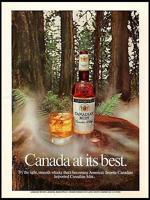 1972 Canadian Mist Forest Canada At It's Best vintage print ad