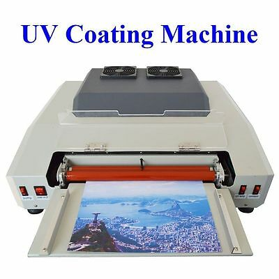 Wide 13in 330mm UV Coating Machine Laminating After Printing Equipment 220V