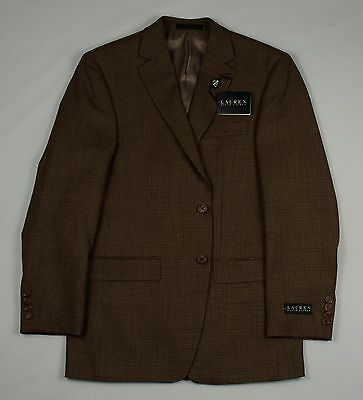 LAUREN RALPH LAUREN MENS 38 HOUNDSTOOTH WOOL JACKET BLAZER COAT Polo Tan / Grey