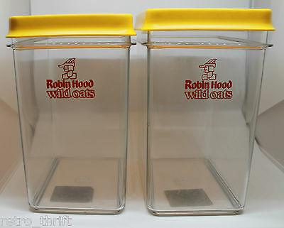 Robin Hood Wild Oats Fring O Seal Set of 2 Storage Container Lid Clear AS-IS