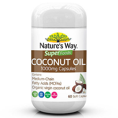 Nature's Way Superfoods Coconut Oil 1000mg 60 Capsules