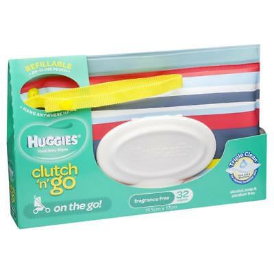 Huggies Clutch N Go Unscented 32 Wipes