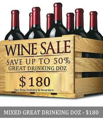 Huge Wine Clearance – Great Drinking Mystery Red Mixed Dozen, $180.00