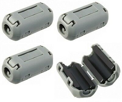 4 X Ferrite Ring Clamp Clip On Noise Supressor Interference Filter