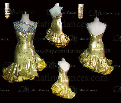 LATINO//SALSA//CHA-CHA-CHA DANCE DRESS  COMPETITION  WITH HIGH QUALITY STONE M432