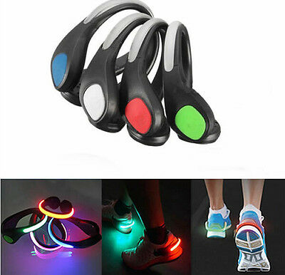 LED Luminous Night  Clip Light Hot Running Sports Cycling  Safety Warning  Shoe