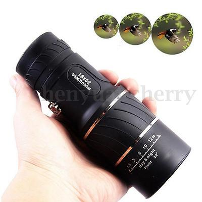16x52 Night Vision Optics Zoom Lens Camping Hiking Hunting Monocular Telescope