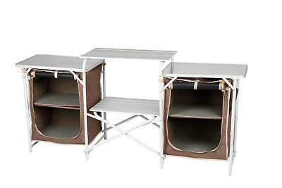 Oztrail Camp Kitchen Double Pantry  Storage Shelf Table Camping Caravan