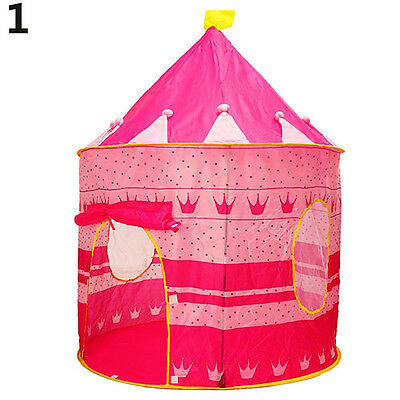 Kids Indoor Outdoor Antique Pop-Up Princess Castle Play-Tent Play-House Pink