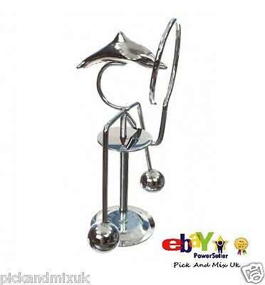 Retro Balancing Dolphin, Metal Weighted, Office Desk Home Novelty Fun Gift