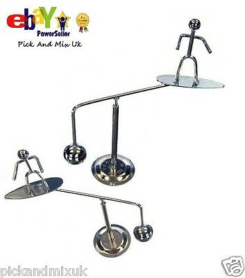 Retro Balancing Surfer, Metal Weighted, Office Desk Home Novelty Fun Gift